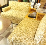 Yellow Couches with Corner Table