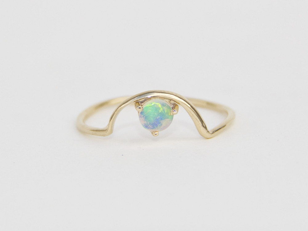 beautiful opal ring gold dainty