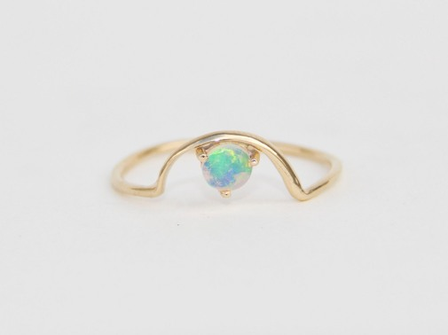 beautiful opal ring gold dainty