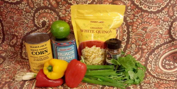 southwest quinoa salad ingredients