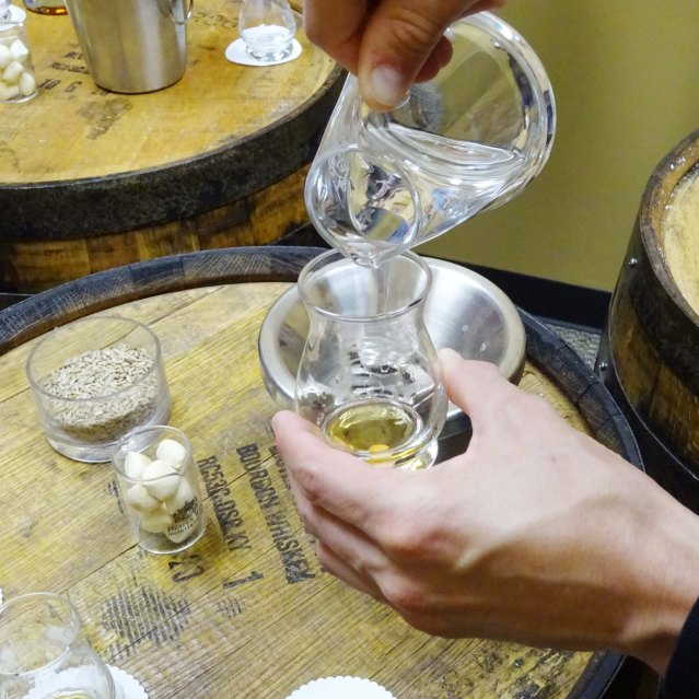 adding water to bourbon