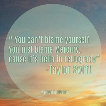 Blame Mercury Taylor Swift
