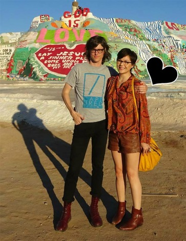 couple at salvation mountain