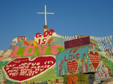 salvation mountain god is love